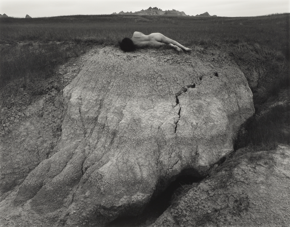 "Judy Dater ""Self Portrait at Badlands"" (1981)"