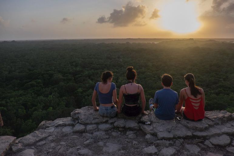 Rubin (Sunset, Tulum, 2017). A pretty sunset in this case is improved with the foreground subjects (my kids).
