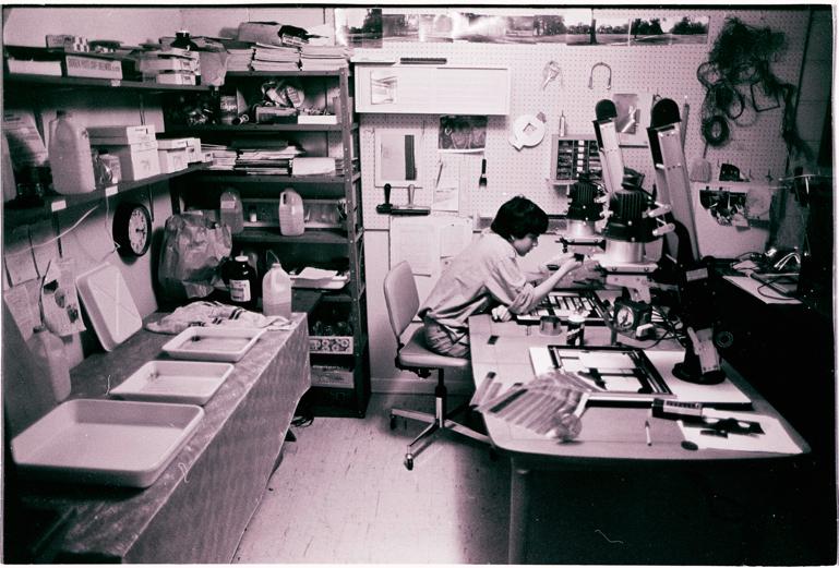 Me, in my darkroom, 1979