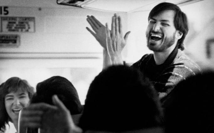 "Doug Menuez, ""Steve Jobs Returning from an Employee Picnic. Santa Cruz Highway, California"" (1987)"