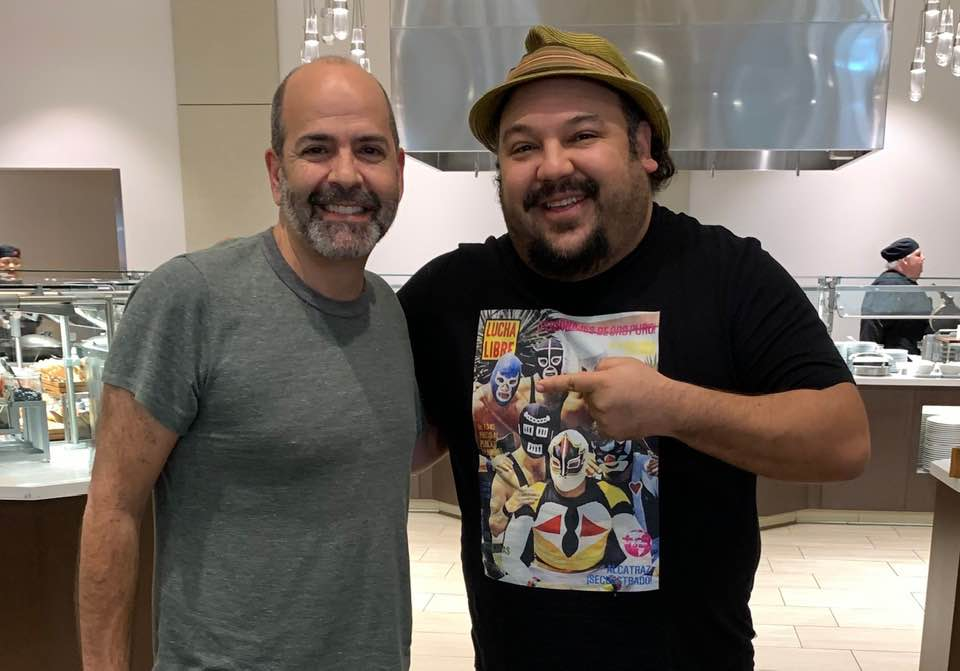 "Yours truly, and animation director (""Book of Life"") Jorge Guttierez"