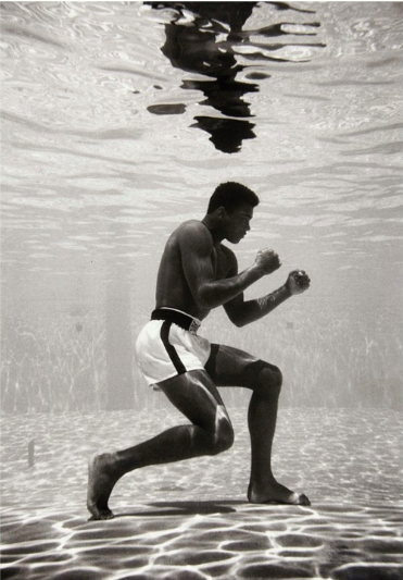 "Flip Schulke, ""Muhammad Ali Under Water"""