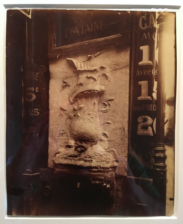 Eugene Atget, fountain detail, (1900) —Plate 48 in vol. 2 of NY MOMA's four book Atget set.