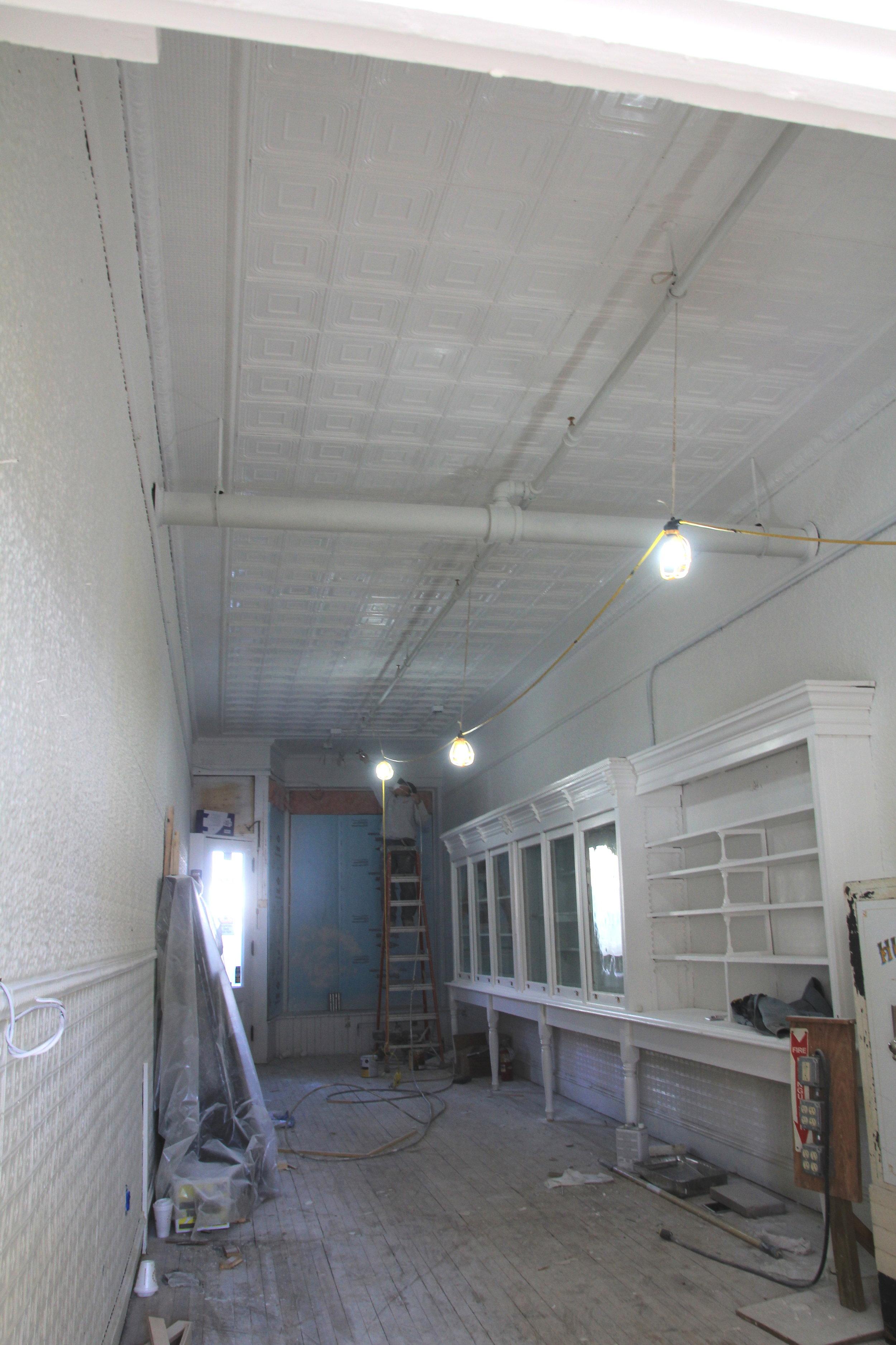 Jan 3 Spraying the ceiling.jpg