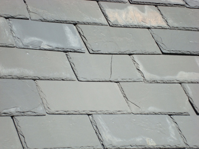 Before - Slate Roof Condition (delaminating, efflorescing, and cracking).JPG