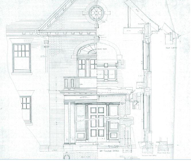 Callander House Front Facade Plan.JPG