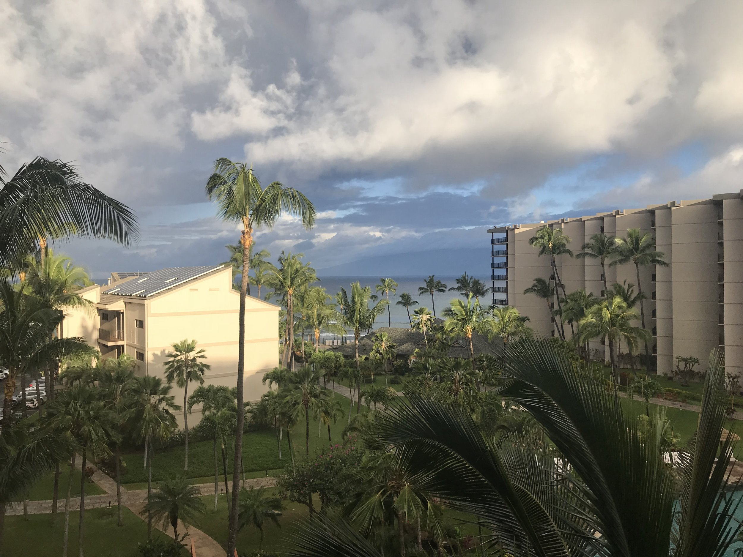The view from our hotel room at Aston Kaanapali Shores.