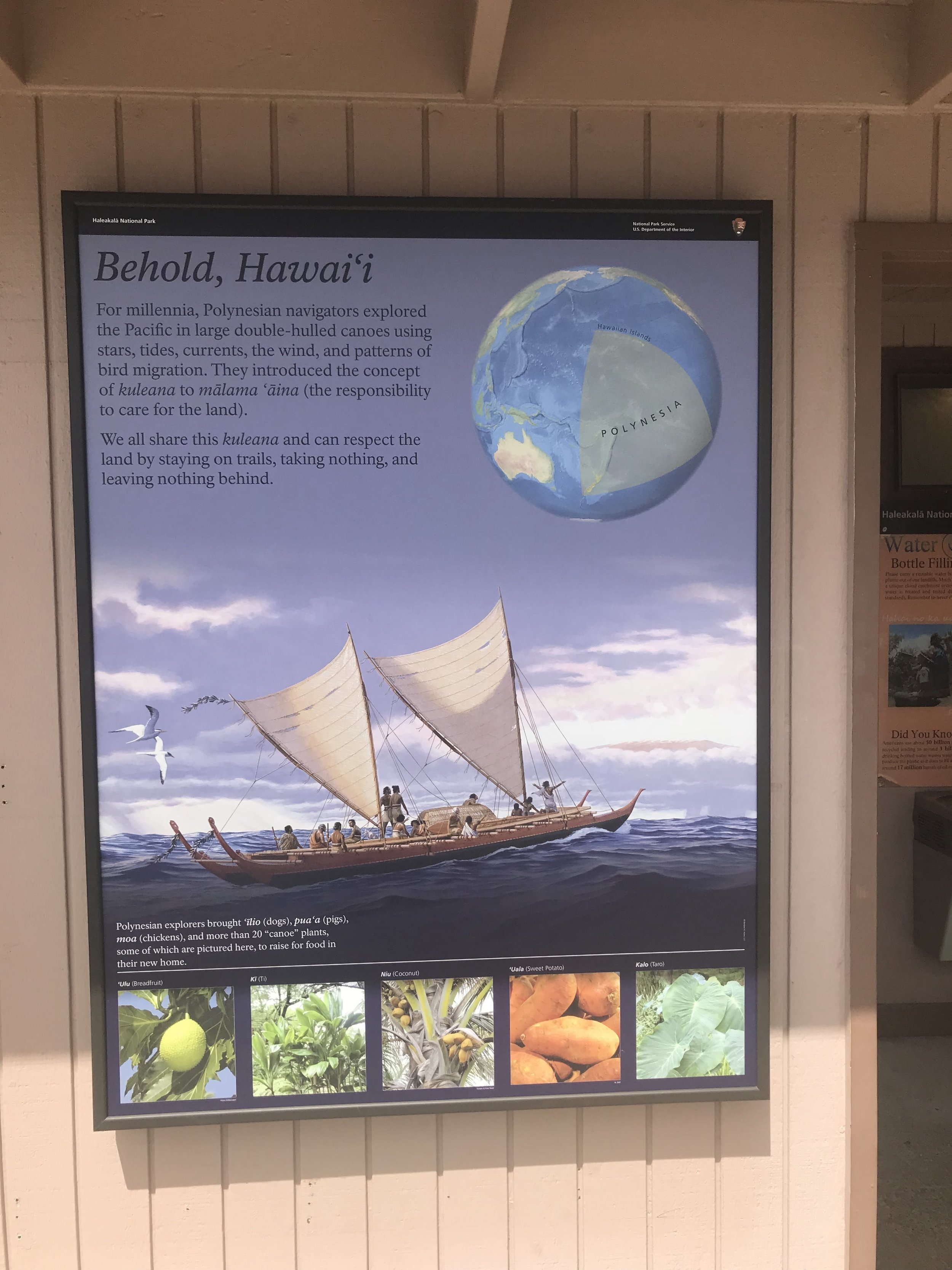 An information card explaining why environmentalism is so important at the Haleakala visitor's center.