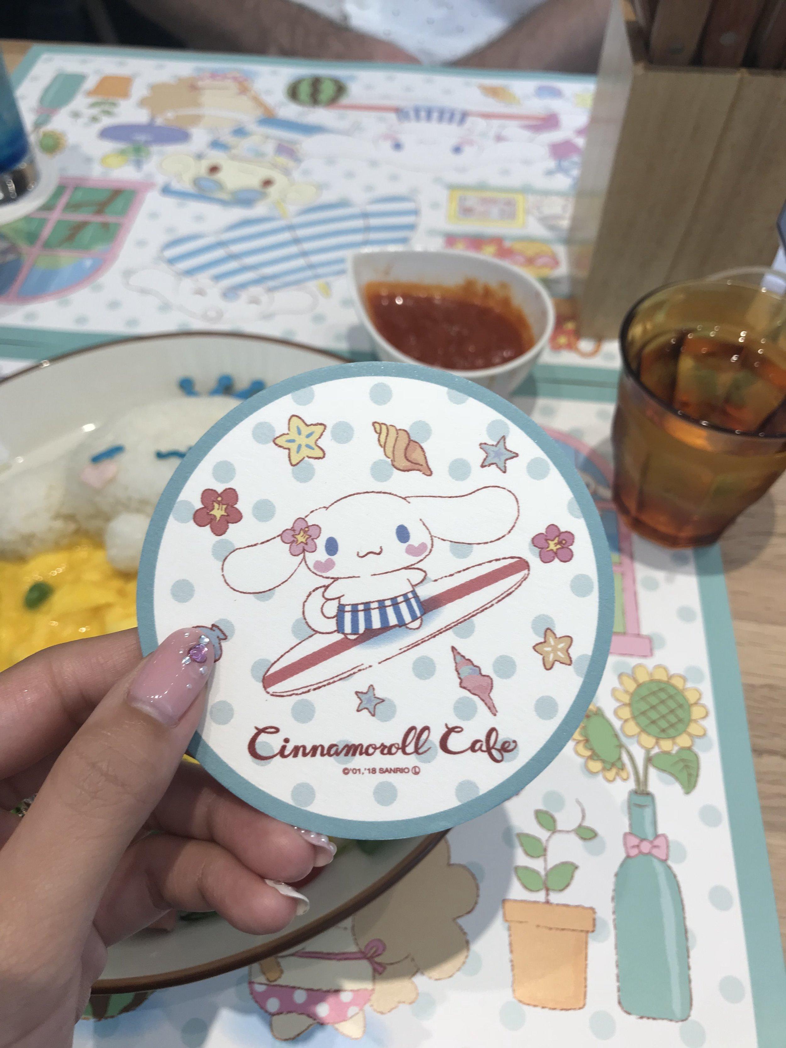 Summer-edition Cinnamoroll coaster!
