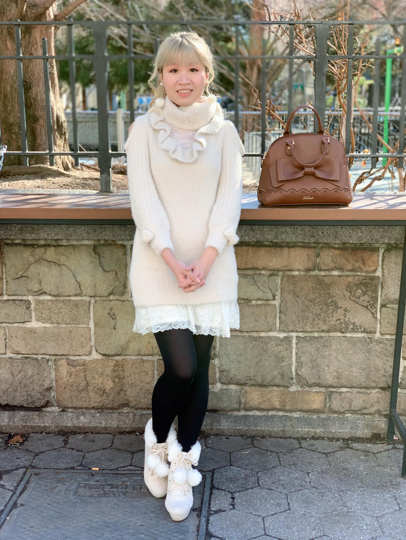 Dress, boots, bag: All LIZ LISA.