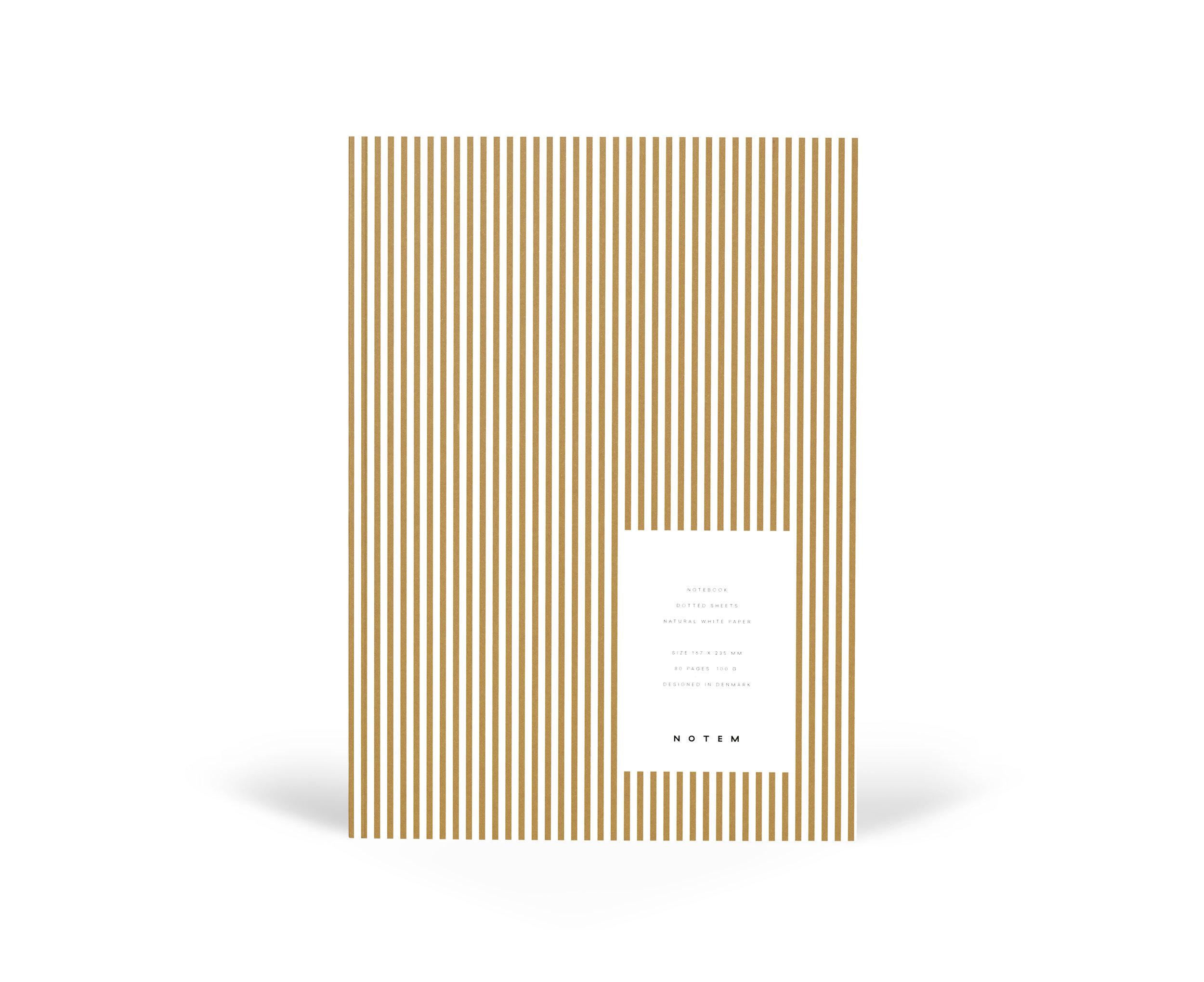 Vita notebook medium ochre