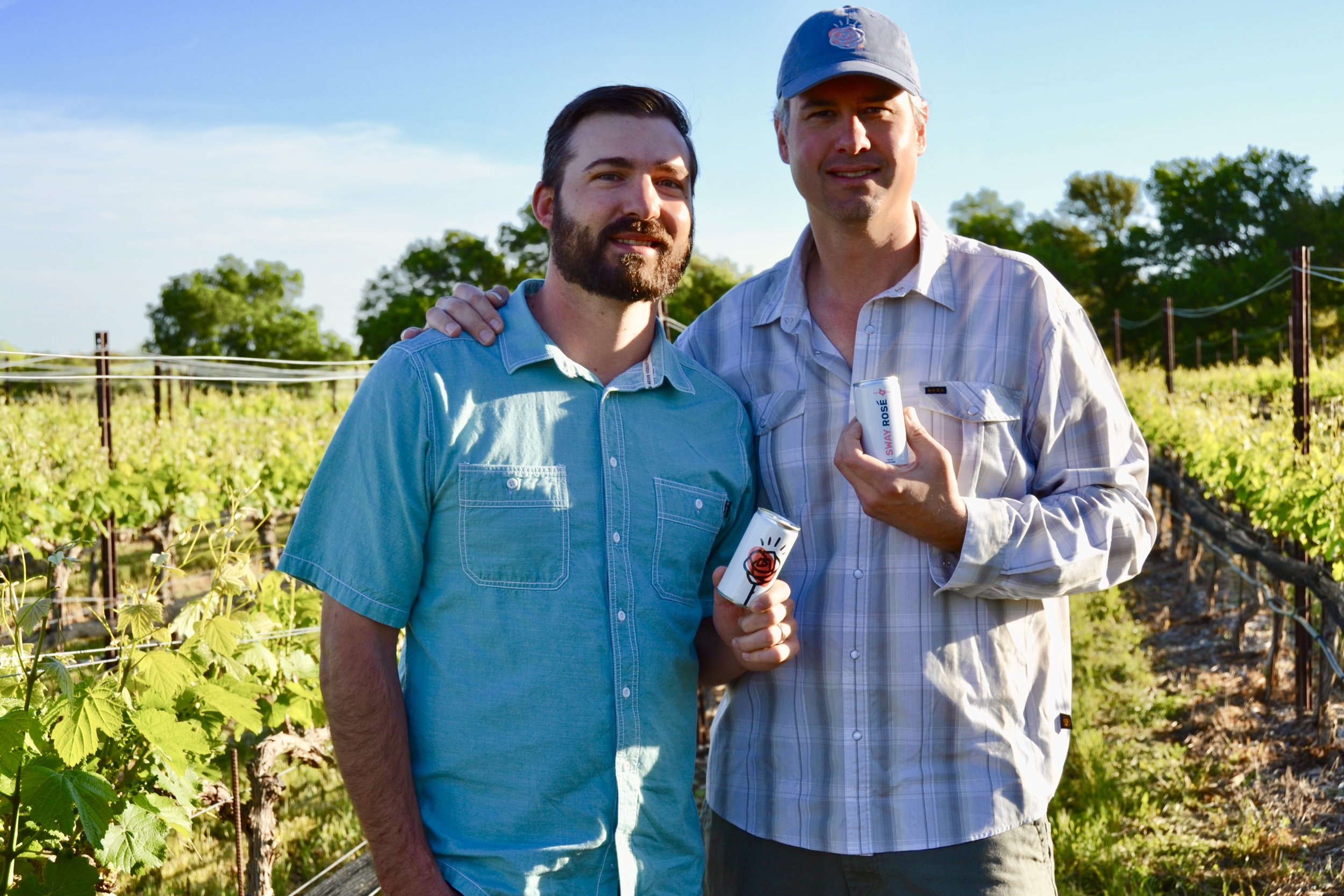 Founders and winemakers Andrew Sides and Chris Brundrett