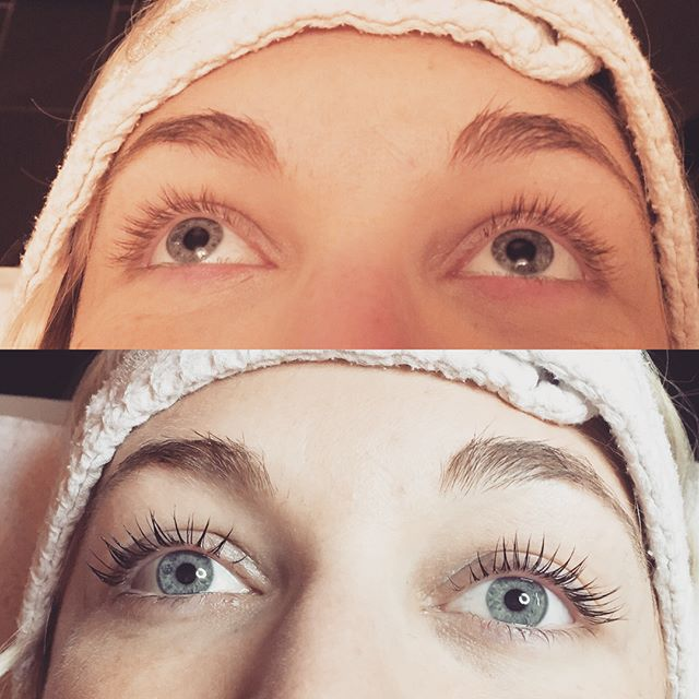 Before and after lash lift and tint on Kielan !  @_makeupgoddess1 is making natural lashes look amazing! @beverlyhillslashes  Call for an appointment! #lashlift #beverlyhilllashes #lashgamestrong #naturallashes #girliegirl #like4like #salonlife #michigansalon #lashlove