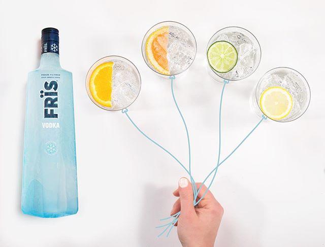 Let's get this party started 🎈 -- #Fris #FrisVodka #vodka #freezefiltered #celebration #cocktailart