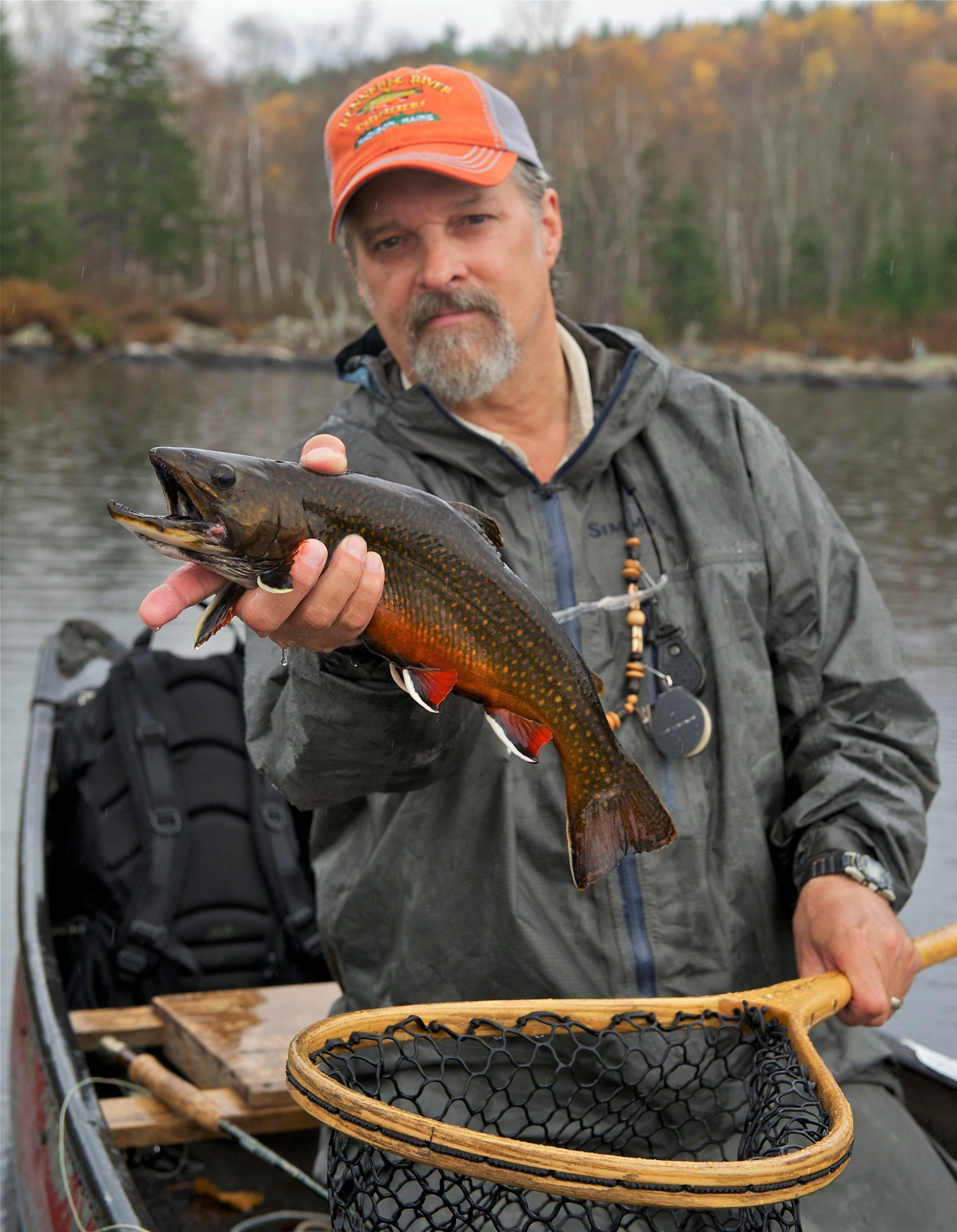 Founding member Bob Mallard with ME pond-dwelling brook trout