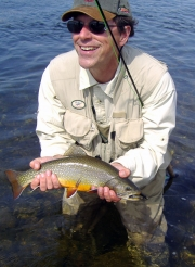 George Smith with a wild native brook trout.