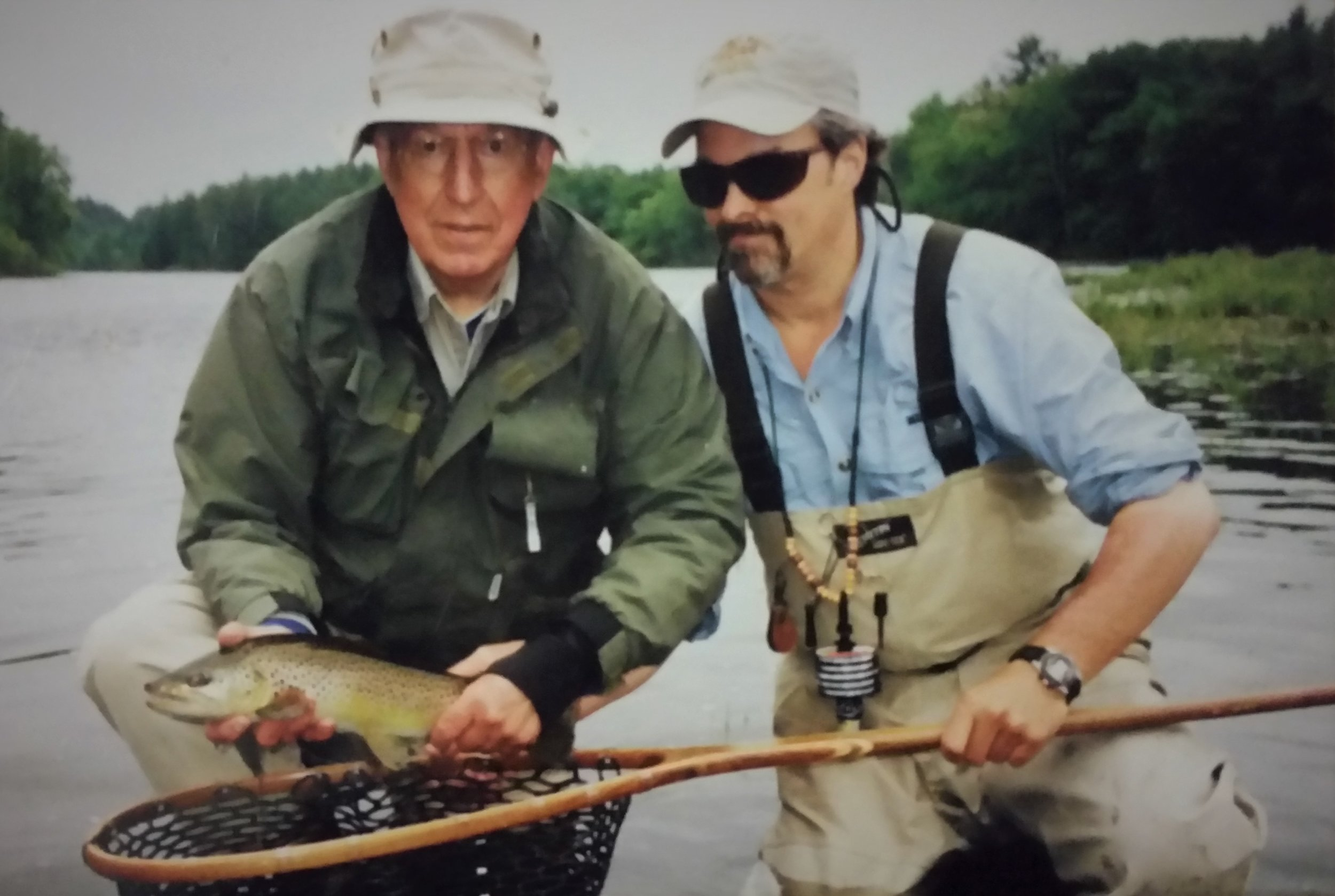 Bill Townsend and NFC founding member, National Vice Chair and Maine board member Bob Mallard on the Kennebec River in Maine.
