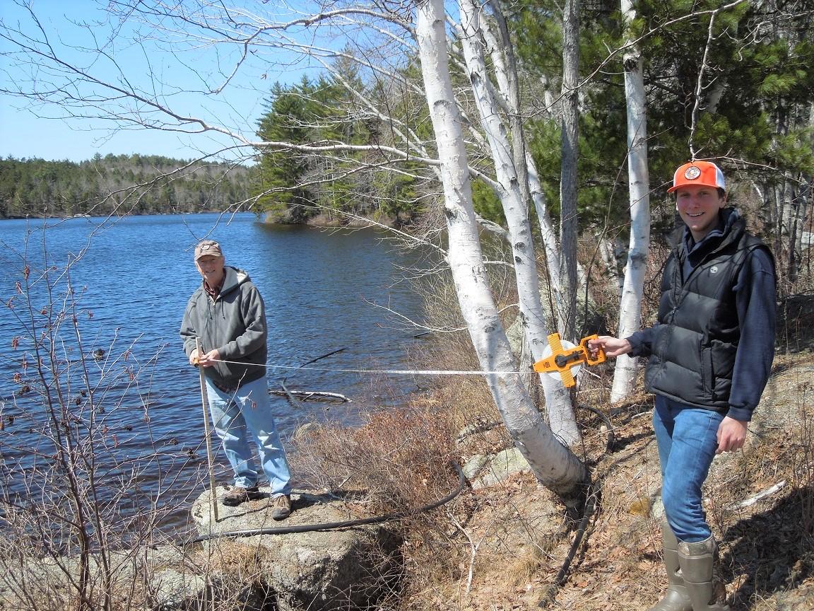 Larry & Brad Measuring at FP.JPG