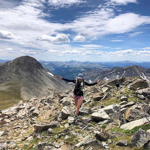 "#travelherway | @missemmamarie_ • ""So fortunate to live in such a beautiful state and to be able to get outside with friends so often. Summer may be coming to an end but better believe I'll still be roaming up high as long as possible! 📸: @k_sealer"" Colorado has so many amazing trails to explore, especially for high elevation training. Have you been? • •"
