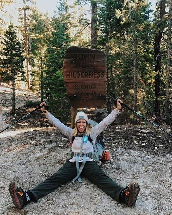 "Did you know that one of our ambassadors, @valeriegisselle, is currently trekking the John Muir Trail? We've been following along and absolutely adore her realness to what trail-life is like. • ""Aug 3 • day 8 • mile 89 // fun fact: this photo was taken moments after my first-ever bear encounter in the wild... I handled it beary well 😎🐻 #jmt2019"" • •"