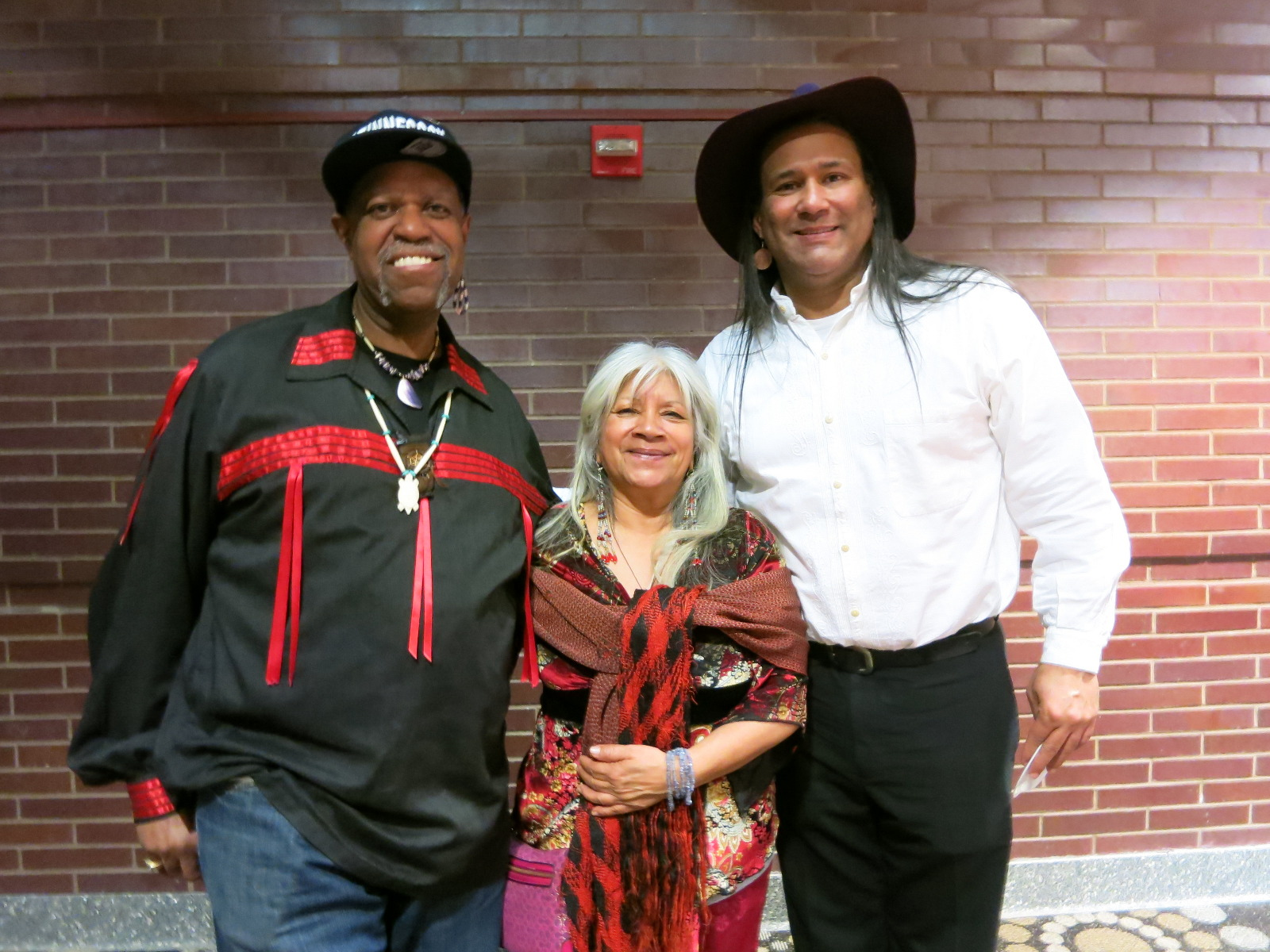 Reggie Herb Dancer Ceaser, Soni Moreno and John Scott Richardson Native American Music & Ceremony performers for the films: AMERICAN OUTRAGE by George & Beth Gage, STANDING ON SACRED GROUND  by Christopher McLeod and  OLDER THAN AMERICA by Georgina Lightning.