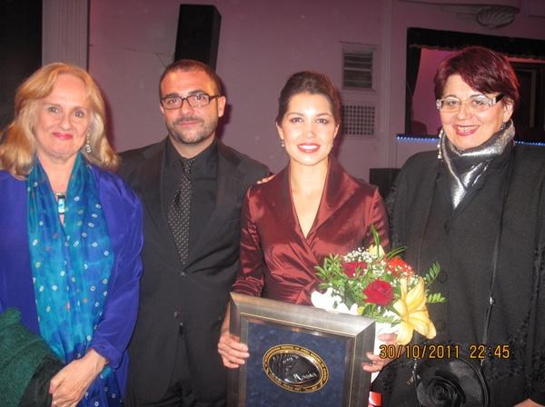 Nancy Rhodes, Curro Carreres (Jury member from Madrid), Sara Heaton, Danusa Luknisova (Agent from Italy and Jury Member)