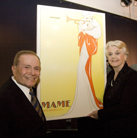- Jerry Herman and Angela Lansbury autograph original poster of MAME at the Gala honoring Mr. Herman