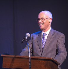 - Daniel at podium