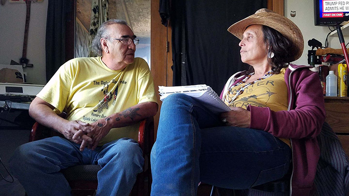 Alex White Plume and Winona LaDuke discuss hemp production in Indian Country.