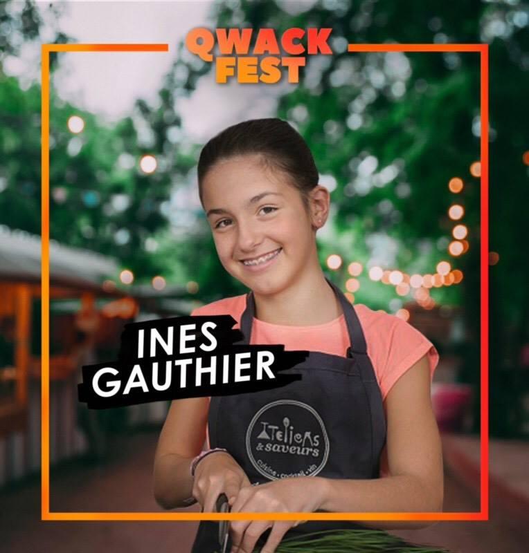 La jeune Chef  Inès Gauthier  - #QwackAmbassadeur