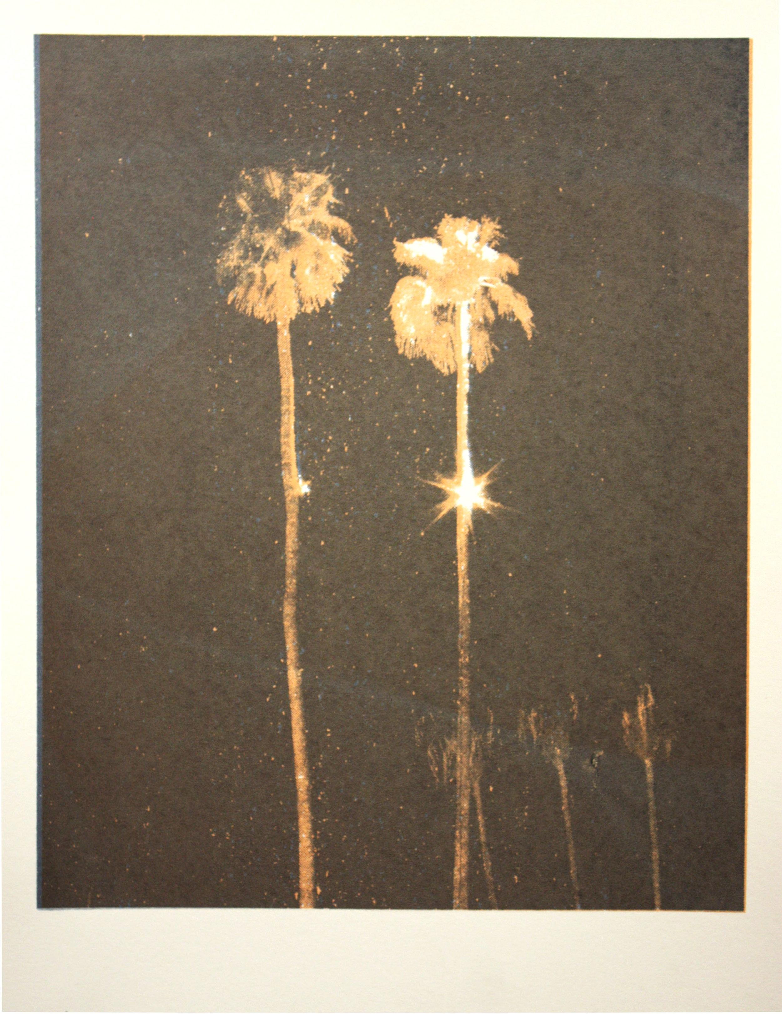 Lights In Trees #1, silkscreen, 2013