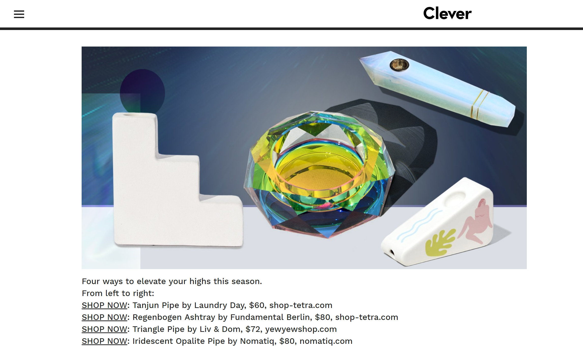 Nomatiq's Holiday Feature - In Clever, from Architectural Digestclick here to see the full article