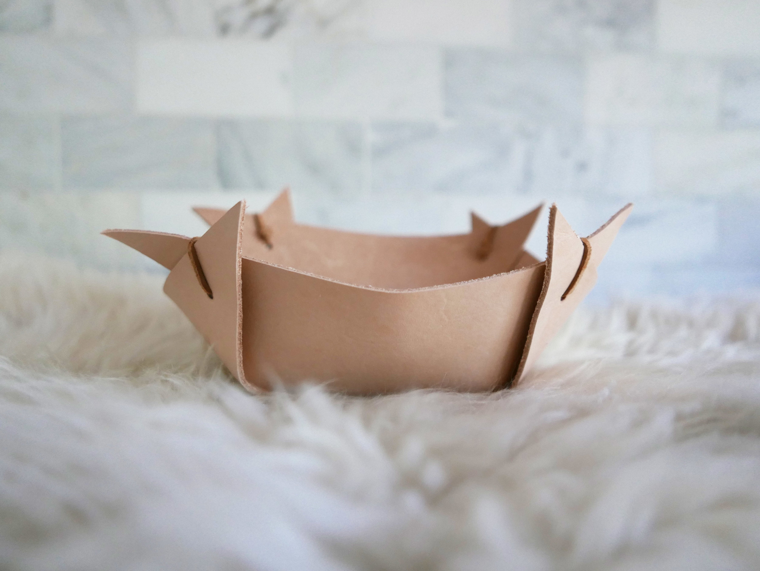 Folded Leather Bowl - Expanded -