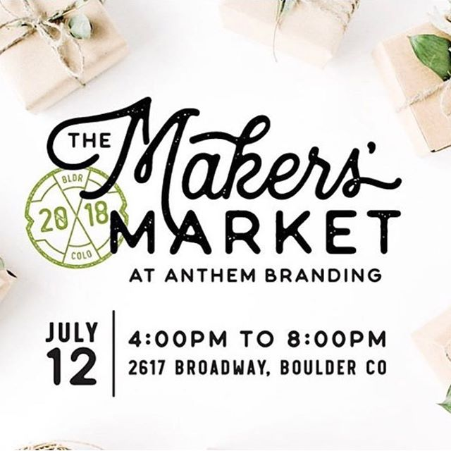 Come join @jaspersocialclub tonight at @anthembranding for the 2018 Makers' Market.