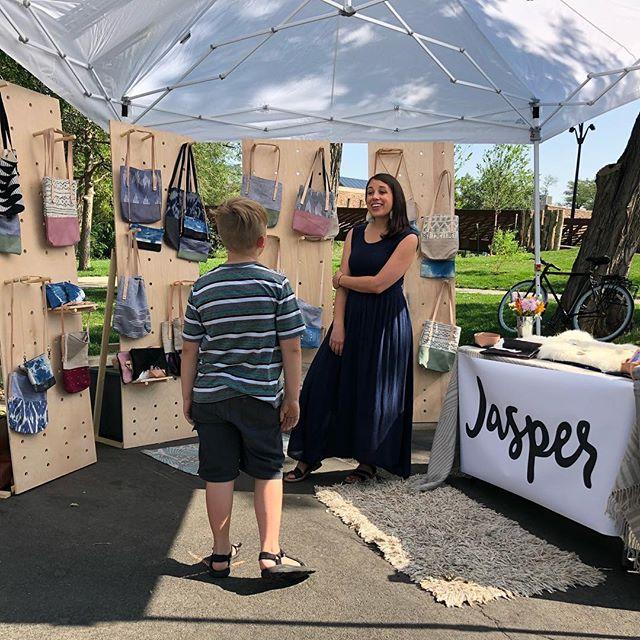 Met a cool dude named Jasper at @fireflyhandmade market.