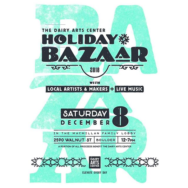 Come visit @jaspersocialclub at the @dairyarts Holiday Bazaar tomorrow! The Dairy is hosting lots of local artists and makers, and launching some fun events.