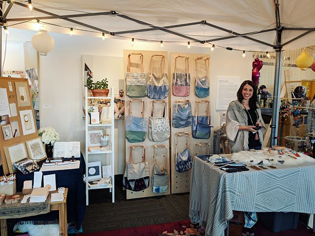 Last weekend's Holiday Bazaar at @dairyarts reminded me once again how lucky I am to share booth space, creative inspiration, and life-time with two of my favorite creative badasses, @l.a.bookmaker and @wakeupanddance ❤️ I somehow didn't take any photos of them, but their work speaks for itself. . 📸 @wakeupanddance