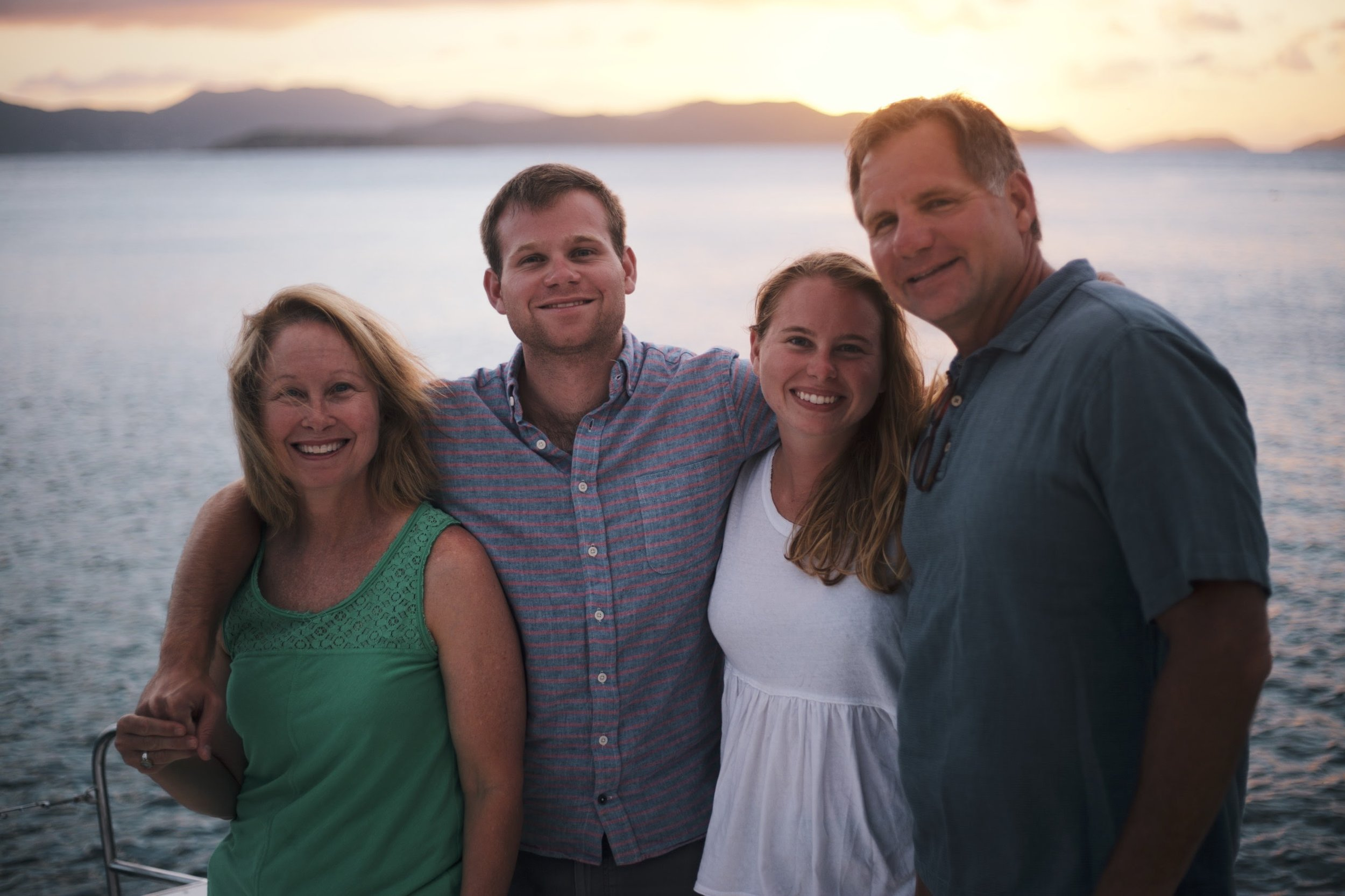 One of only two family pictures we got on the trip thanks to Cameron.