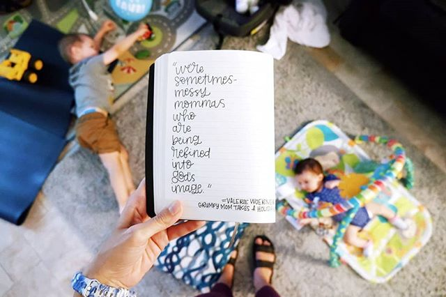 """The cliché of motherhood is that we are either perfect or an absolute mess—there is nothing in between. But maybe the reality looks more like this: we're sometimes-messy mommas who are being refined into God's image. I much prefer that description."" -@valwoerner . . . . .  #communityofchristiancreatives #christiancreative #goodnewsfeed #rootedartists #goodfruitcreatives #illustratedfaith #butfirstjesus #instagramforchrist #handlettering #handletteringdaily #letteringcommunity #letteringartist #handletterer #loveofletters #wherethewillowsgrow #createdtoday #timeforcreativesouls #thehungrycreatives #artistherapy #createdtocreate #creativetherapy #arttherapy #womenwhomake #creativelife #grumpymomtakesaholiday #ipreview via @preview.app"