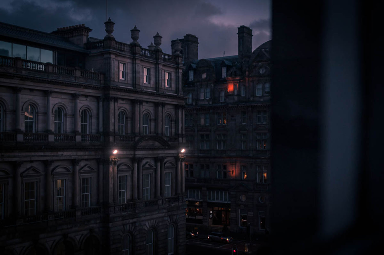 Edinburgh from the hotel, UK