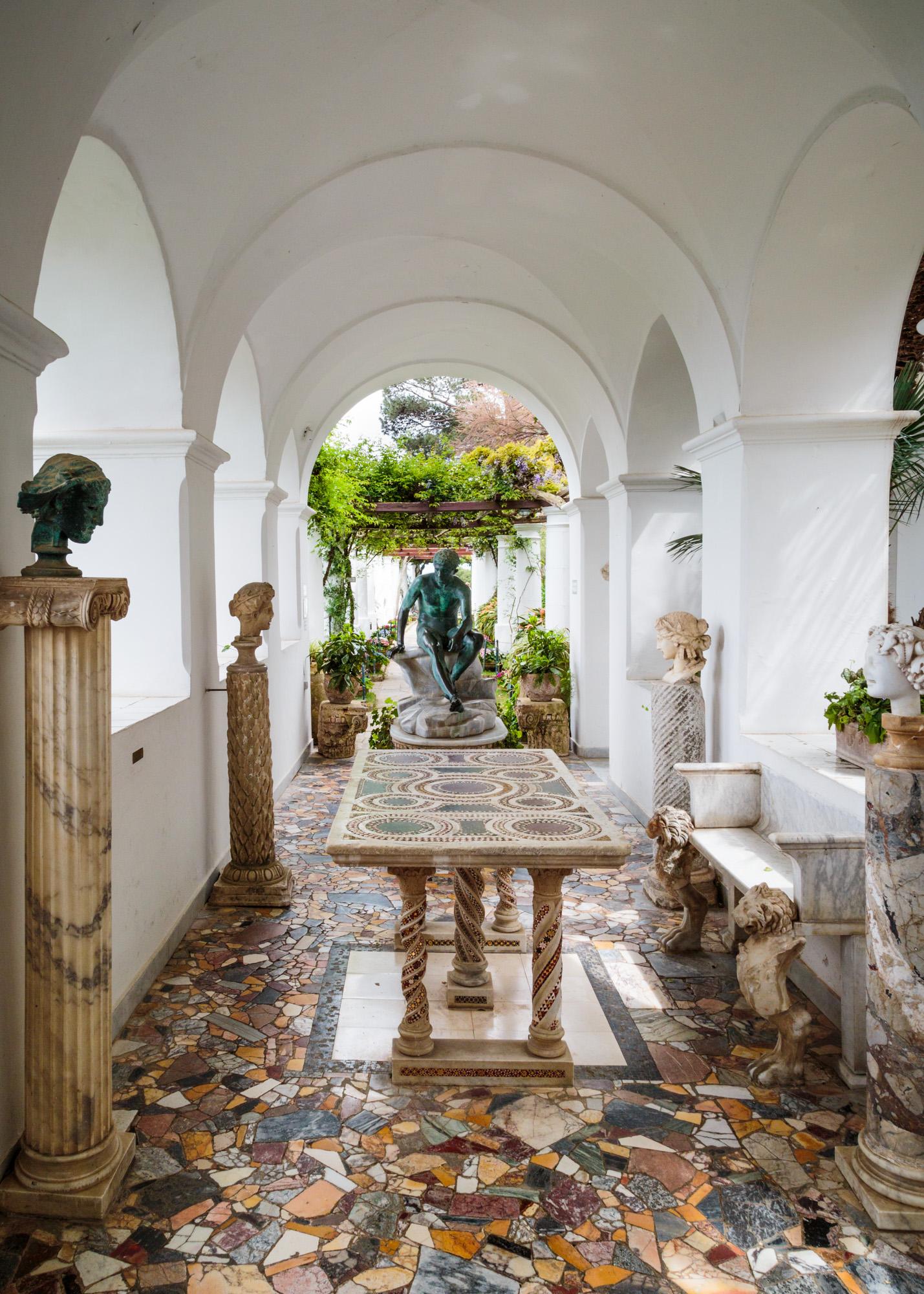 Garden in Capri, Italy