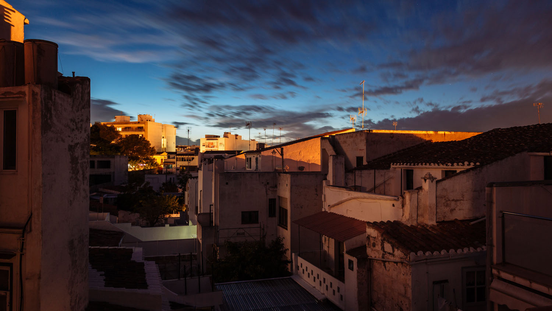 Ciutadella at night, Menorca