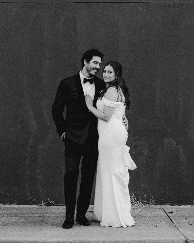 Grainy black & white mood. #detroitwedding