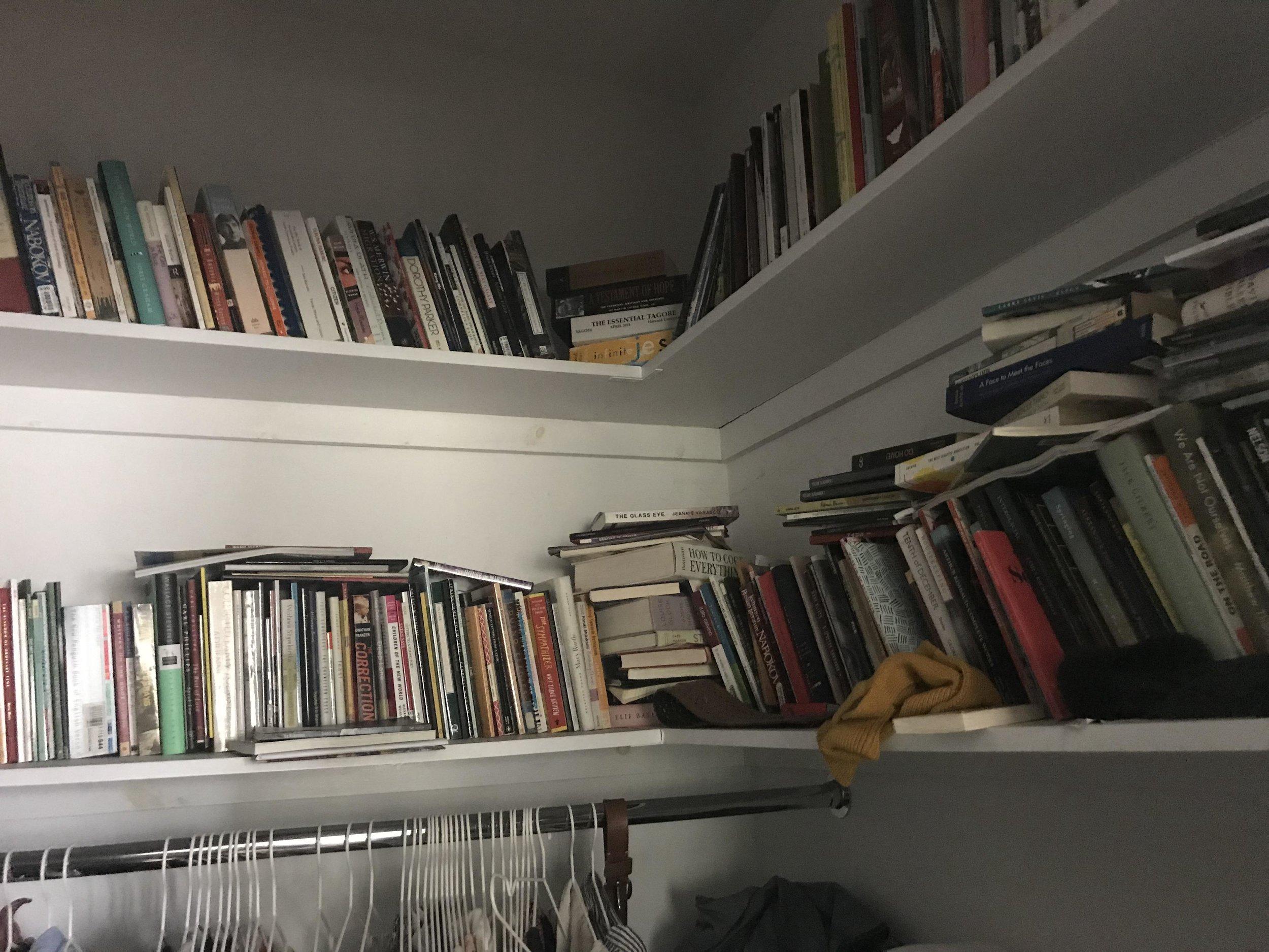 Books in my closet.
