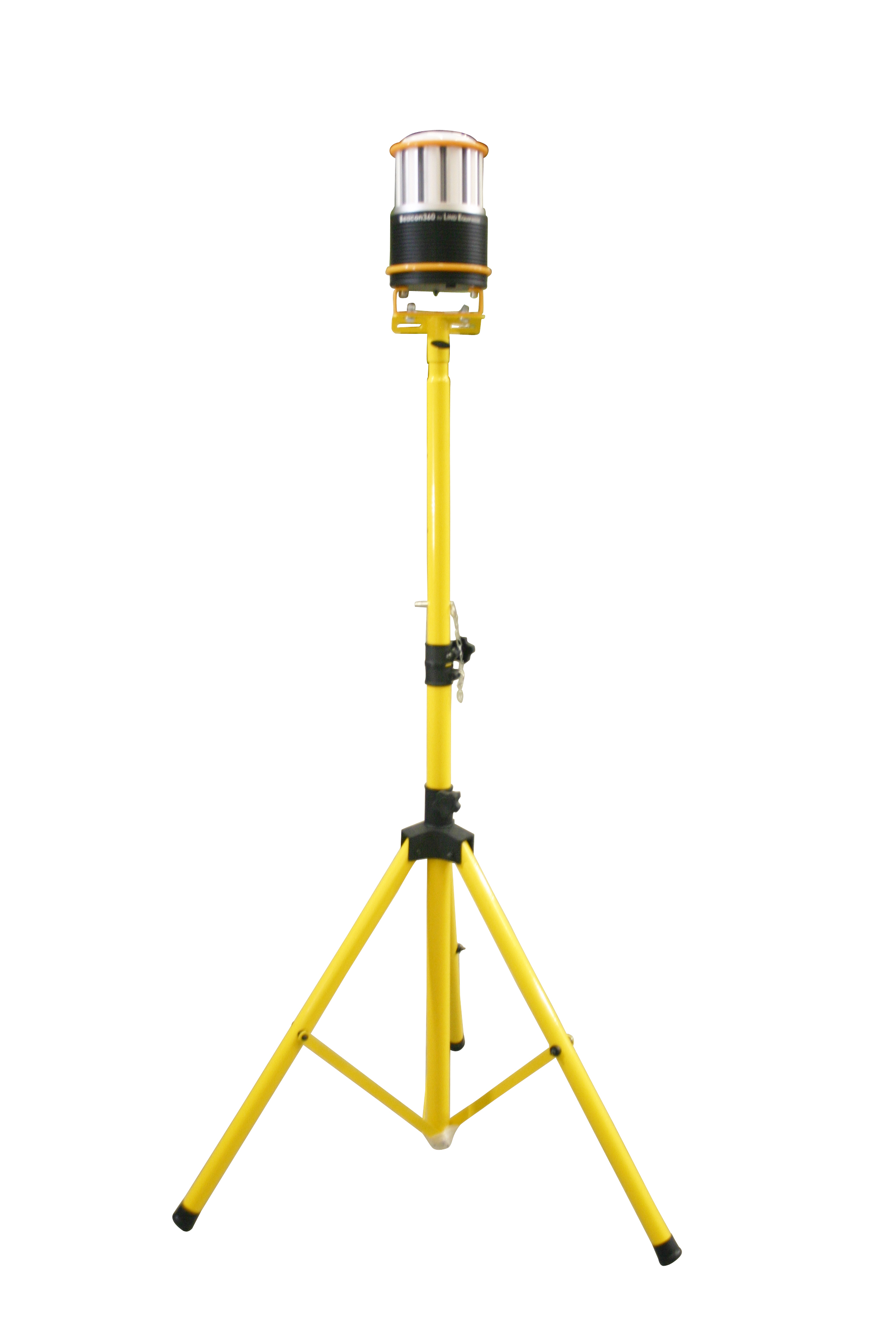 Beacon360 GO 360° LED battery powered area light with 120V charger on a 4-8' tripod.  Cat Class: 110-1577  Part Number: LE360LEDC-TR