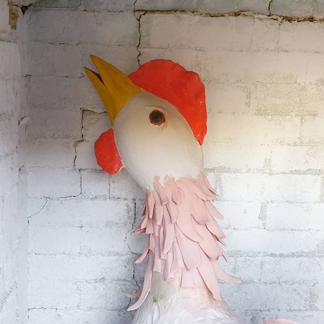 See you on the other side. #santacruzpottery #pottery #ceramics #sculpture #handmadepottery #chickensculpture #chicken #clay #art