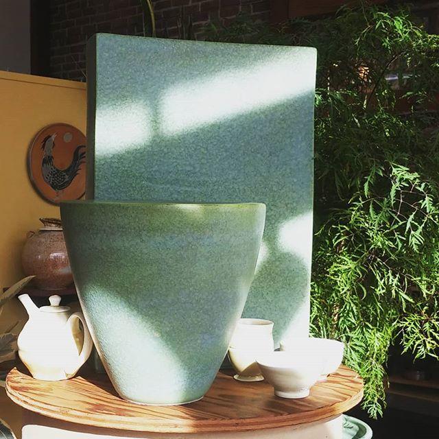 Some large vases. #vases #potteryvase #ceramics #pottery #santacruzpottery
