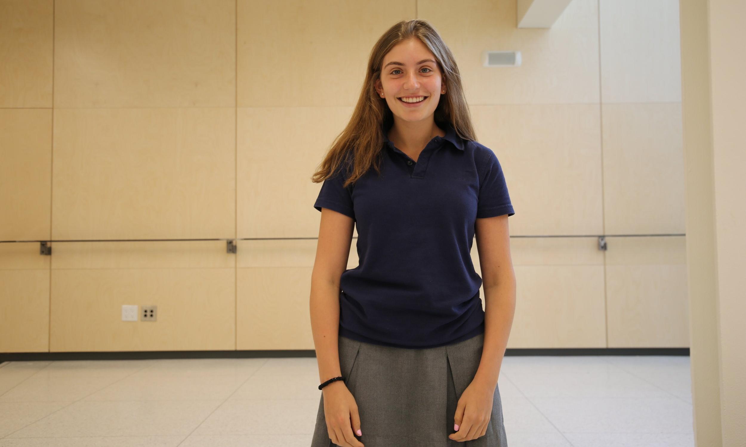 CAROLYN LEVITT, GRADE 12 - ON THE [NEW] YORK SCHOOL CAMPUS