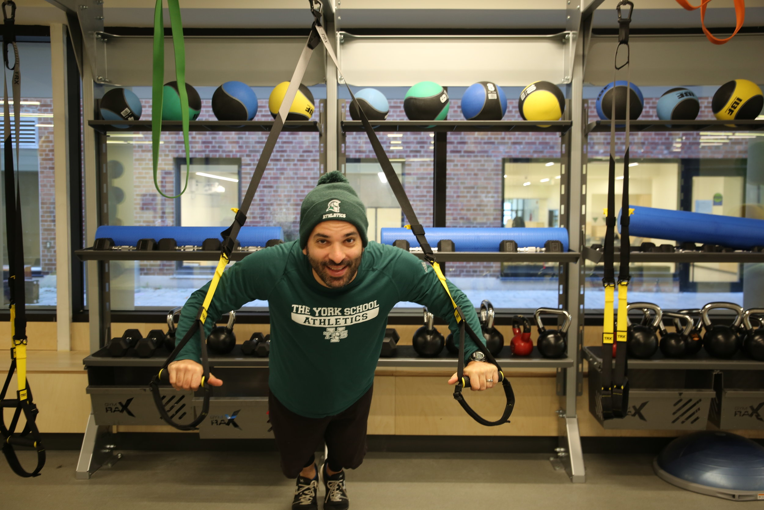 Athletic Director Rick DeMarinis in our new Gladiator strength & conditioning centre