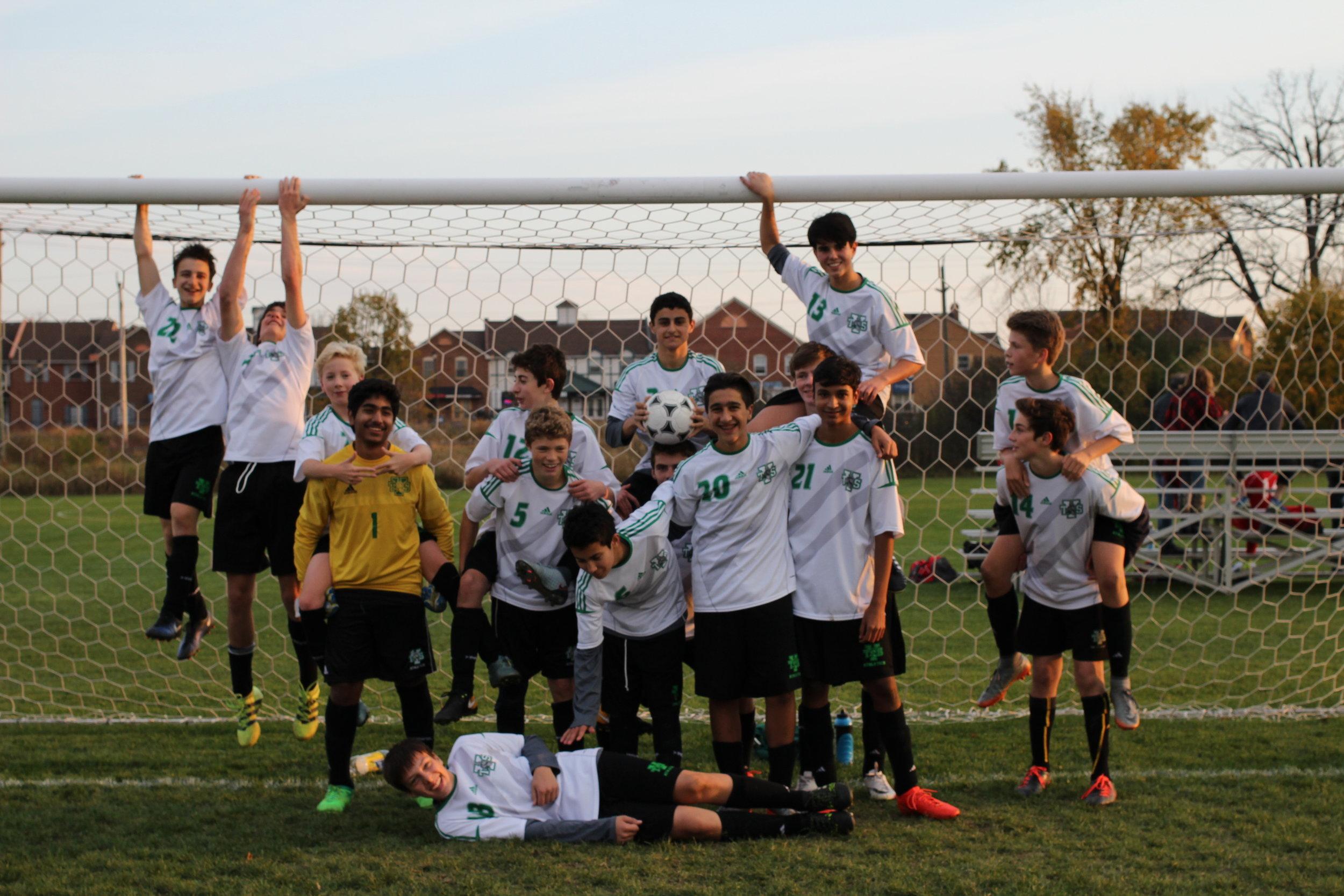 Our Junior Varsity Boys Soccer Team